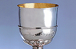 C2. Sterling Silver and silver gilt Chalice.