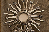 C7. Sun-shaped Monstrance. Sterling Silver and diamonds.