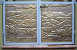 D26. Entrance door panels. Brass.